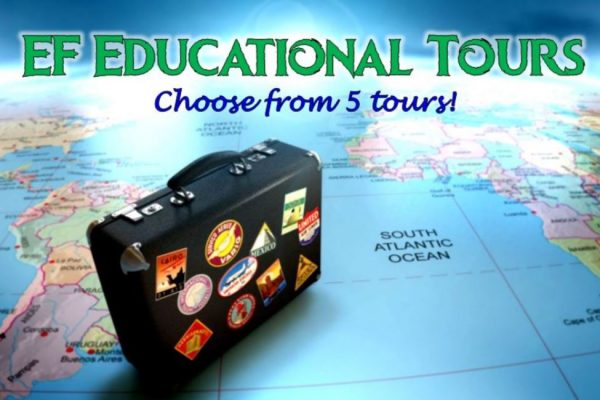 EF Educational Tours – Choose from 5 tours this year!