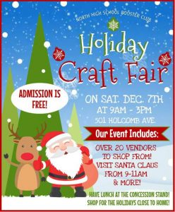 Holiday Craft Fair Dec 7th